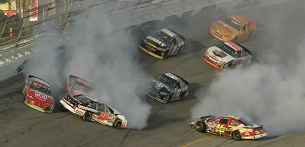 NASCAR crash Photo: Reuters