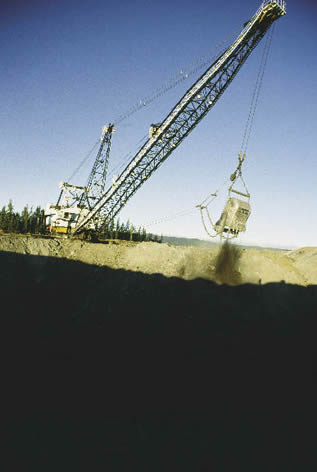 photo of earthmoving equipment