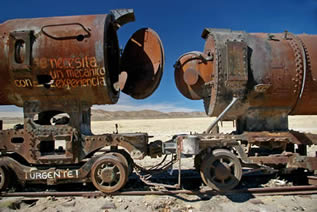 photo of tanker cars on a railroad track in a high desert