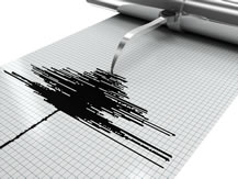 photo of a seismograph charting a quake