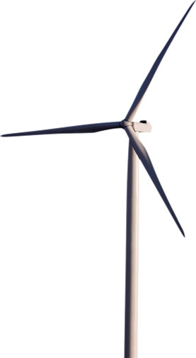 photo of a modern wind turbine