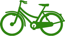 graphic depicting a bicycle
