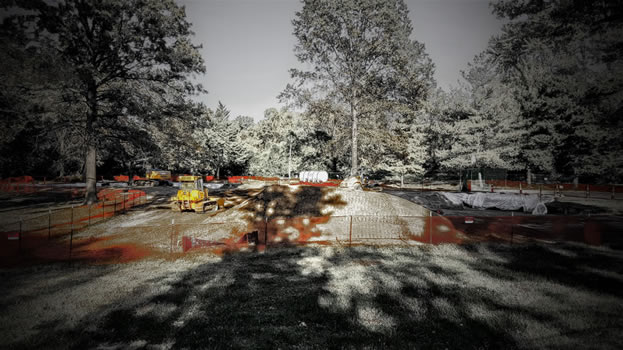 photo of a cordoned-off park