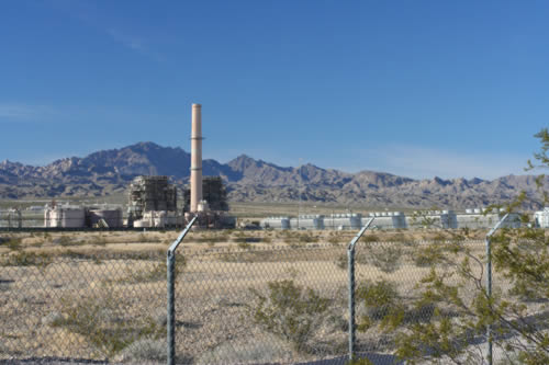 Mohave Generating Station surrounded by wire fence