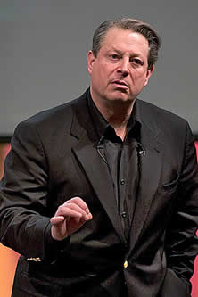 Al Gore speking photo