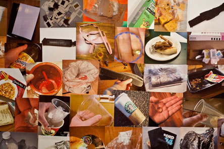 photo collage of refuse objects