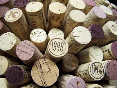 photo of wine-bottle corks