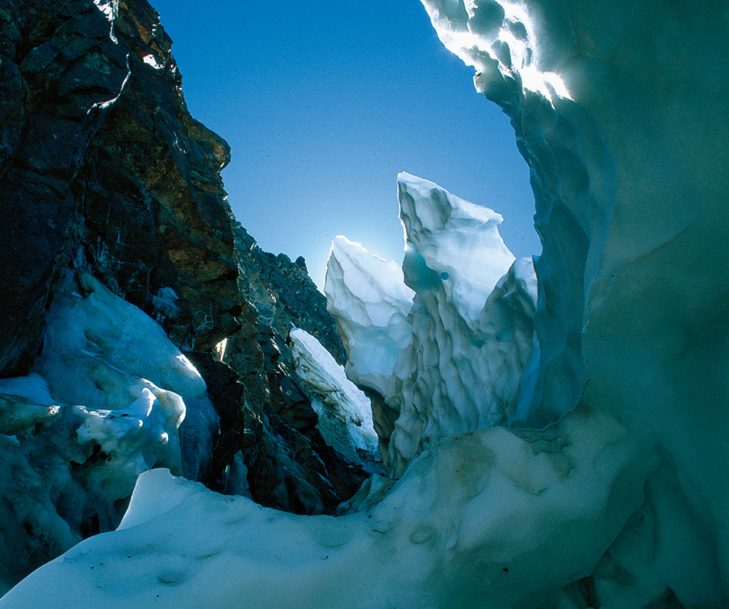 photo of ice and rock