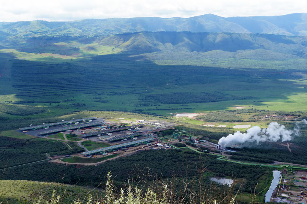 Kenyas energy quandary earth island journal earth island aerial photo of an industrial facility in a tropic mountain range photo geothermal sciox Gallery