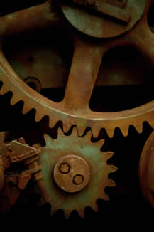 close-up photo of mechanical gears