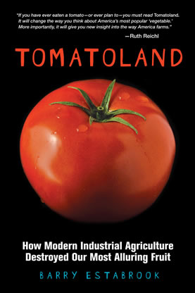 book cover jacket, photo of a tomato