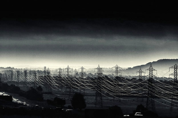 photo of a multitude of transmission lines