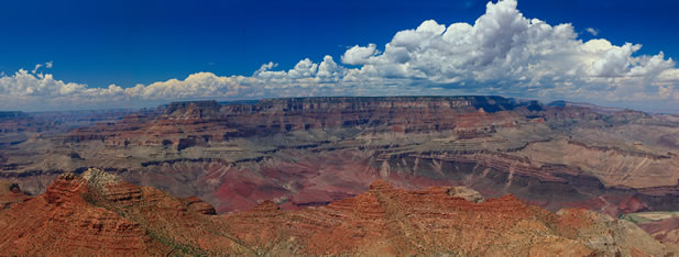 panoramic photo of the grand canyon