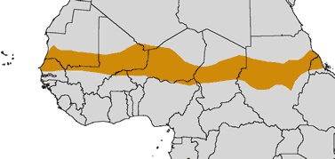 map of North-central Africa, the Sahel region outlined