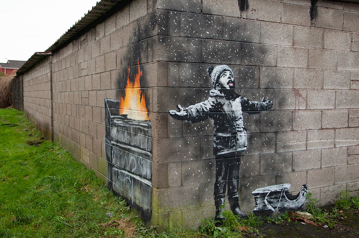 coal for christmas by banksy