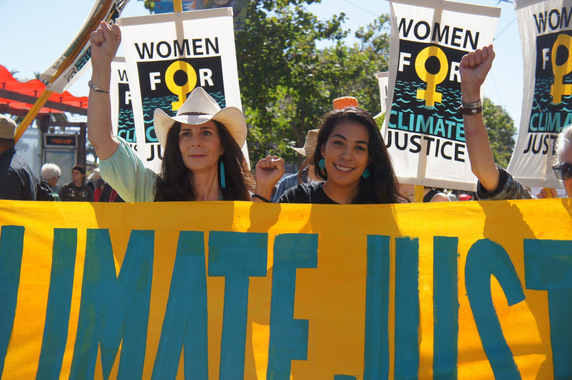 The Women's Earth and Climate Action Network (WECAN) took to the streets of San Francisco, California on September 8 as part of the worldwide Rise for Climate, Jobs, and Justice march.