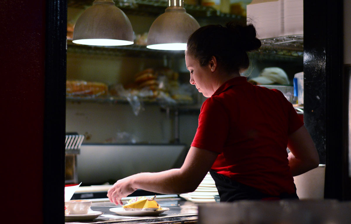 If the fields are bad for women, they don't fare much better at restaurants either, where, as in most workplaces, women tend to get stuck in lower positions while men hold most of the managerial jobs. Photo by Donald Lee Pardue