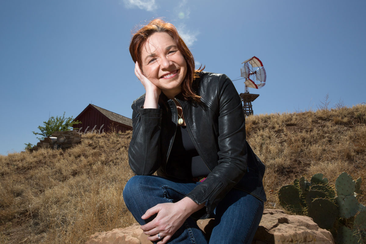 Hayhoe gets attached by climate deniers on a regular basis, attacks that are often just as focused on her gender as on climate science. Photo by James Bernal.