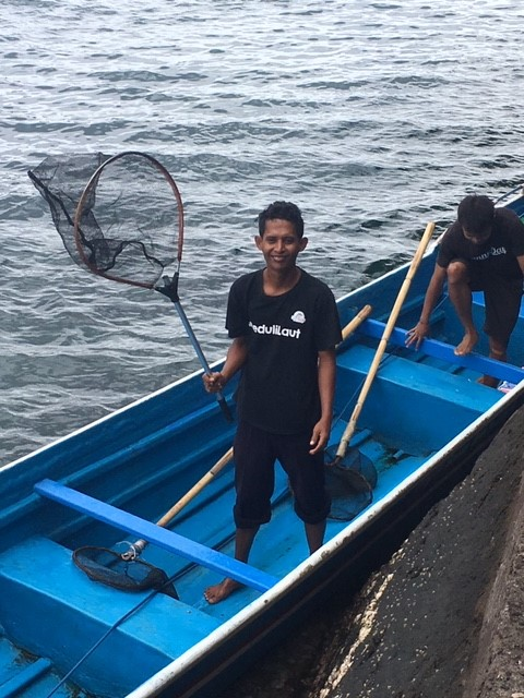 Photo of fisherman Banda Islands