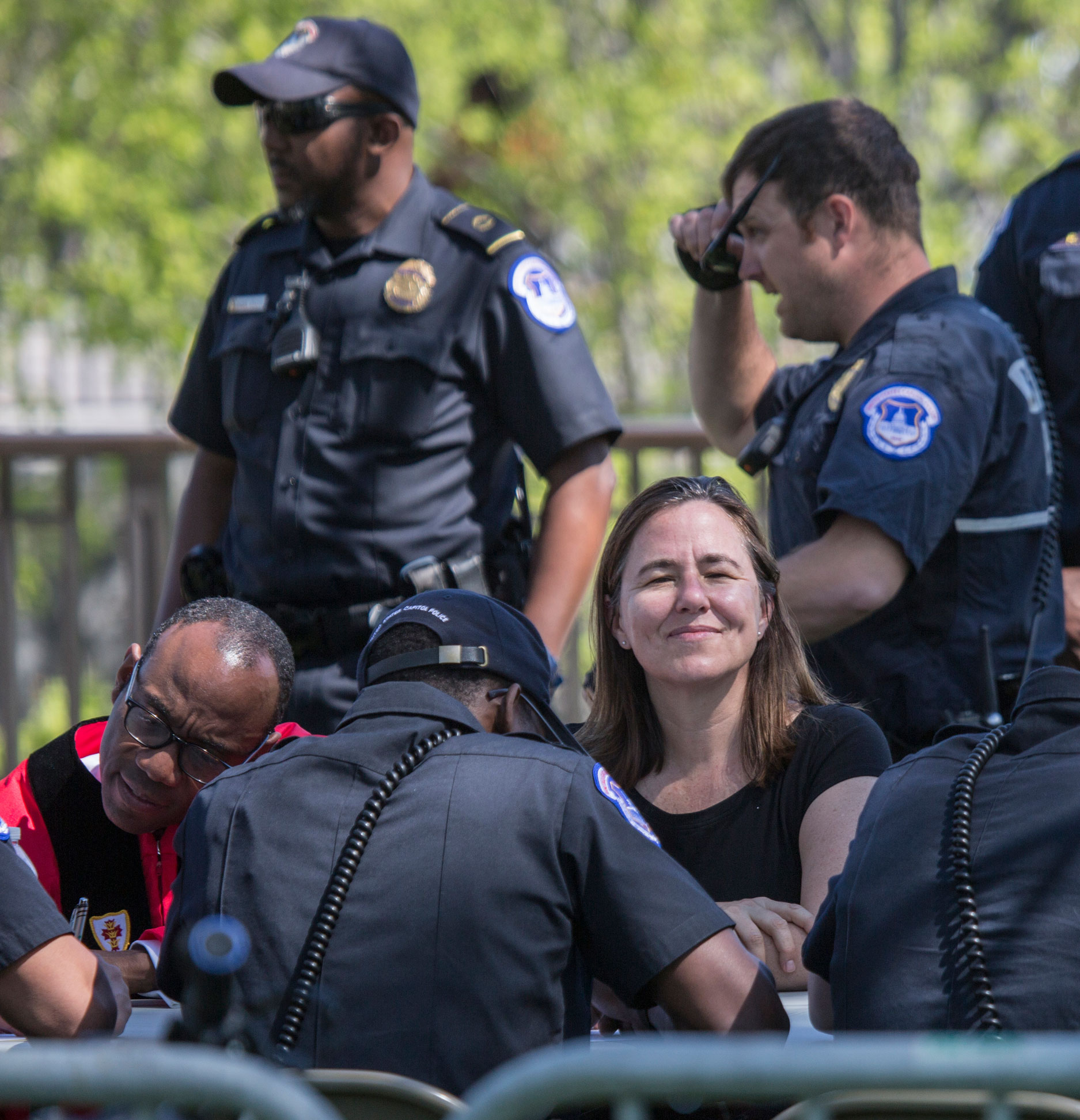 Annie Leonard was among the more than 300 people arrested at the Capitol for participating in a demonstration demanding democracy reforms as part of the #DemocracyAwakening ans #DemocracySpring movement in April 2016..Photo by Tim Aubry/Greenpeace
