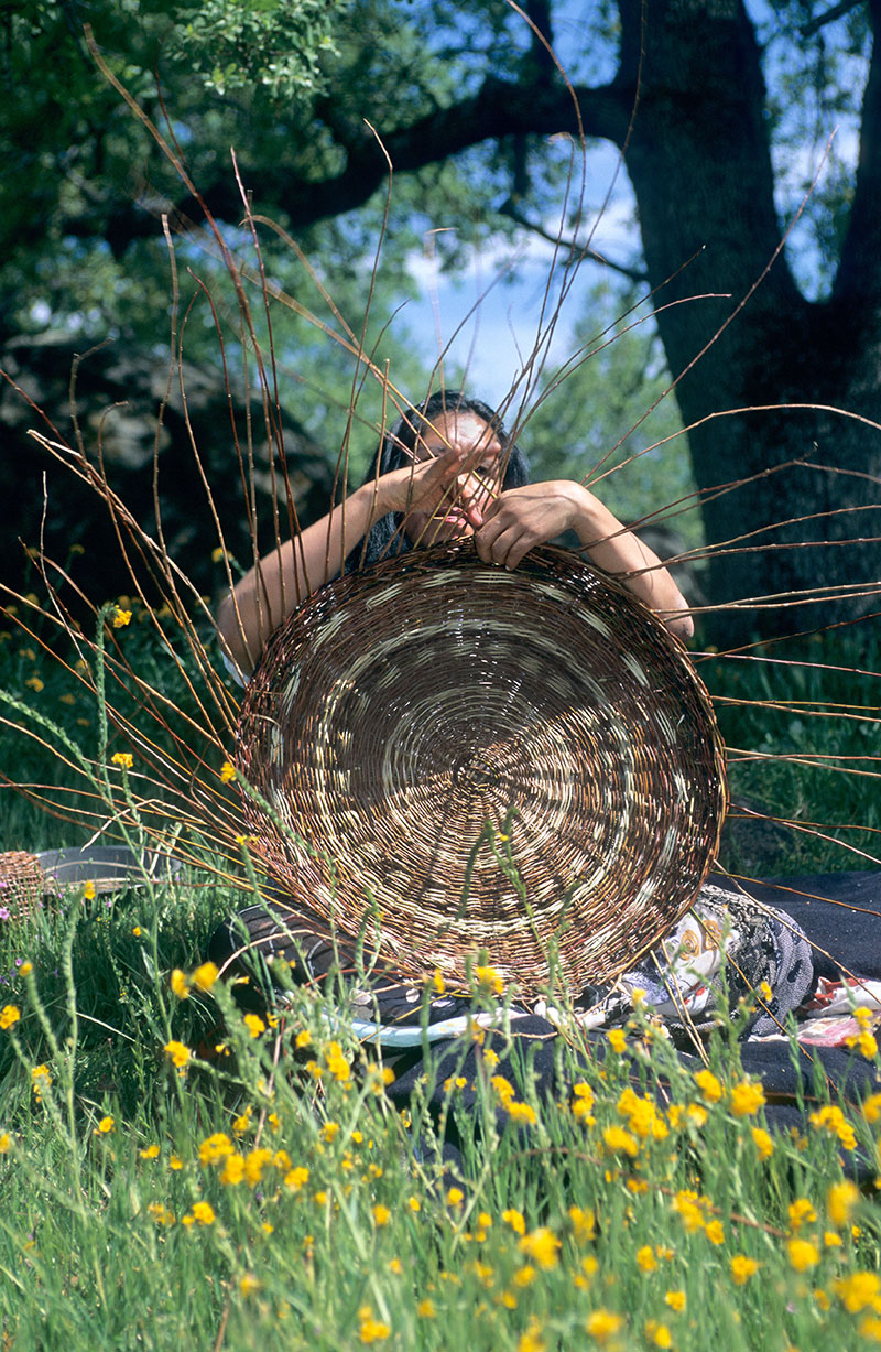 Like other Pomo Indians, the Elem are especially skilled at basket weaving. Their intricately designed baskets are still highly valued today. Photo Stephanie Keith