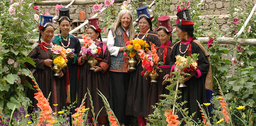 Norberg-Hodge spent decades working and living with Indigenous people in Ladakh, India. Her work there helped crystalize her understanding of the need for decentralized political and economic structures as well as holistic knowledge of local ecologies. Photo by Local Futures.