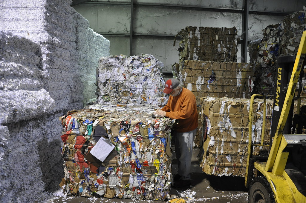 Photo of paper recycling