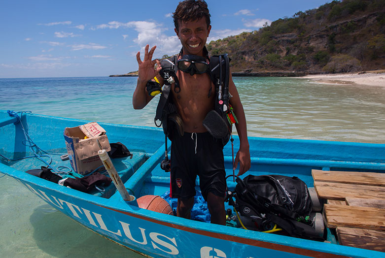 a man happy from a SCUBA dive