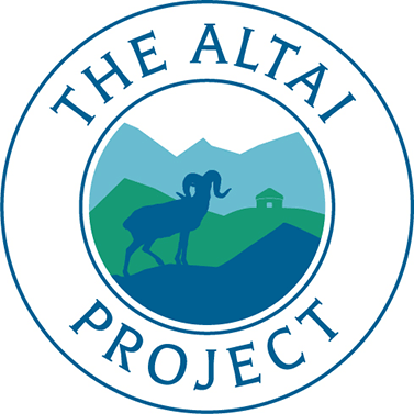 graphic showing a mountain sheep on a triangle, words The Altai Project