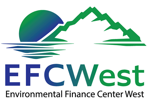 graphic depicting a mountain, word EFCWest