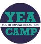words Youth Empowered Action on a simulated postage stamp